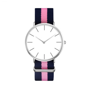 Hotsale Popular Custom Brand Your Name Nylon Strap Wrist Watch