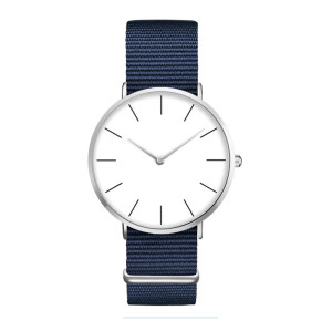 Classic style large dial nylon strap watch for men and women