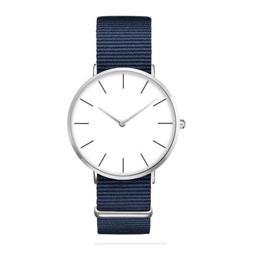 New Fashion Design Custom Brand Name Minimalist Nylon Strap Wrist Watch