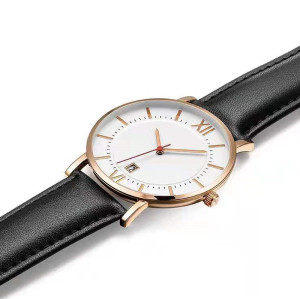 Newest style times round quartz watches japan movt watch simple for men wristwatch