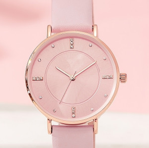 luxury elegance simple fashion watch women custom logo waterproof colorful quartz wristwatch for lady