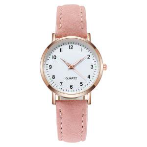 New Women Luxury Quartz Alloy Watch Ladies Fashion Stainless Steel Dial Casual Bracelet Watch Leather Wristwatch