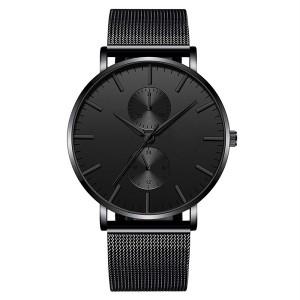 Men Watches 2021 Luxury Fashion Mens Business Watch Ultra Thin Thin Stainless Steel Mesh Belt Quartz Wrist Watch reloj hombre