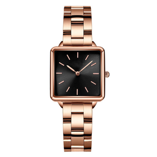 Chinese Wholesale Stainless Steel Band Vintage Ladies Watches Retro Square Shaped Watches For Women