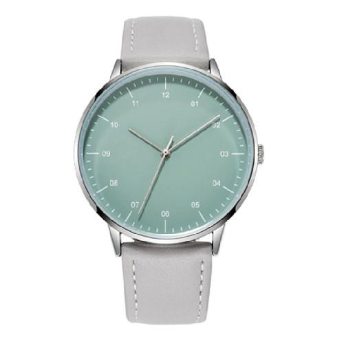 Japan Movement Genuine Leather Strap Thin Bezel Simple Design Minimalism No Logo Casual Business Watch