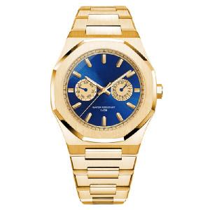 New Design Brand Private Label Stainless Steel Luxury Wrist Custom Logo Men Chronograph Quartz Watch