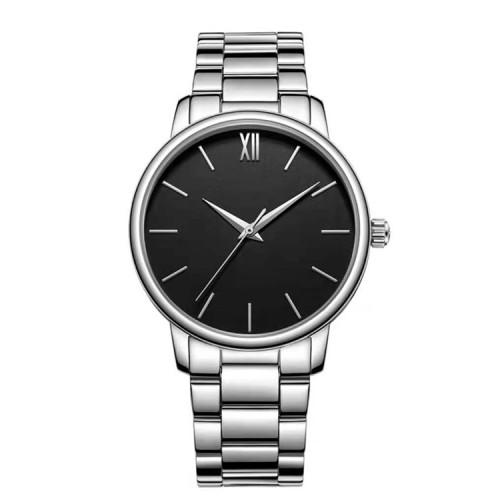 New simple waterproof leather strap quartz couple watch