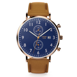 Brand Your Own Logo Odm Wrist Analog Luxury Wristwatch Chronograph Men Quartz Black Watch