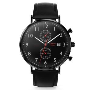 Custom branded shopping online leather chronograph watch fashion quartz man watches