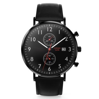 Wholesale OEM custom brand water resistant classic luxury chronograph quartz mens wrist stainless steel watch