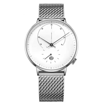 Summer new design automatic mechanical leather strap 5ATM waterproof watch