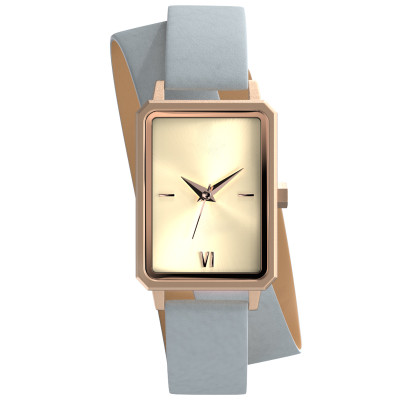 stainless steel Japan quartz movement double loop long band women lady watch