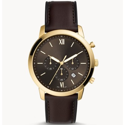 Fashion simple three crown genuine leather strap luxurious business men's wrist watches