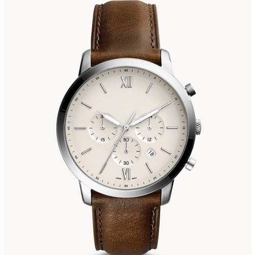 Simple three second dial genuine leather strap sport leisure time men's wrist watches