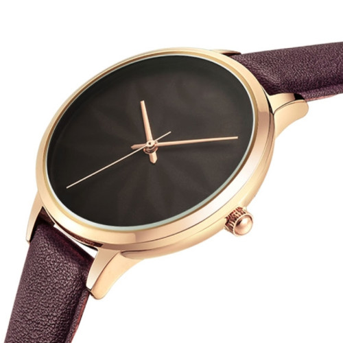Fashion simple watch students sport colorful leather strap waterproof youth women watches
