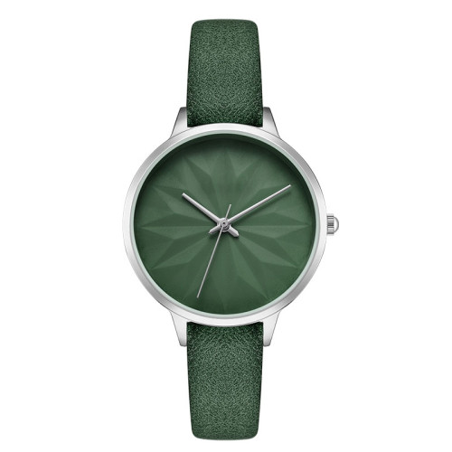 Fashion elegant watch new style simple colorful leather strap waterproof ladies watches