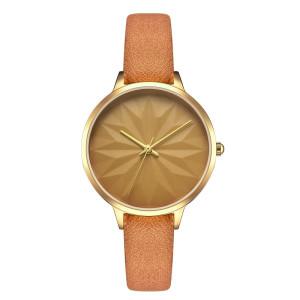 Elegant watch new style simple leather strap quartz ladies wristwatches