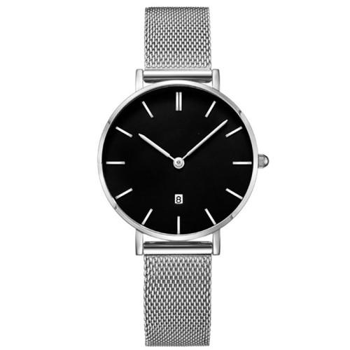 Couple Fashion Leather Band Analog Quartz Round Wrist Men's Watch Wrist Party Decoration Business Watch