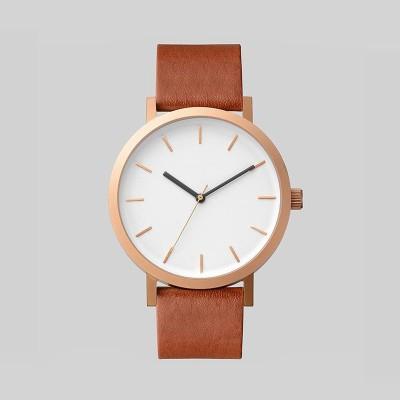 Minimalistic Watch Custom Logo Brand 2019 Fancy Gentleman Classic Watch Leather Strap Wrist Watch For Men