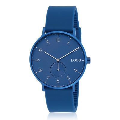 Multi color silicone quartz watches waterproof simple men watch