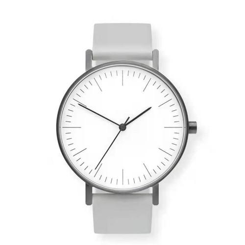 Wj-7126 Hot Sale Simple Quartz Handwatch Luxury High Quality Cheap Leather Wrist Watch Men Watch Small Moq Oem Custom Logo