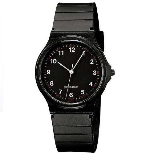 New Custom Logo Soft Silicone Black Band Quartz Men's Waterproof Wrist Watch