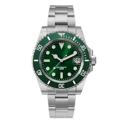 Diver Water Ghost Luxury Sapphire Crystal Men Automatic Mechanical Watches Ceramic Bezel 20Bar Luminous Date Window