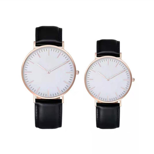 2021 New Business Leisure Mens Watches Waterproof Leather Strap Quartz Watch Oem Wholesale Watch Custom Your Logo