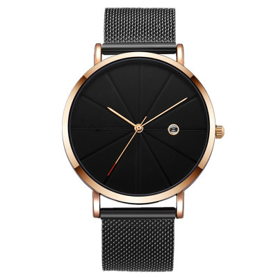 Simple Classic Fashion Custom Logo Watch Customized Logo Watches Low Moq Watch With Milanese Strap