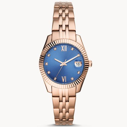 Luxury simple custom wrist waterproof colorful dial quartz ladies watches factory price