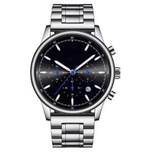 OEM/ODM Mechanical Movt Stainless Steel Watch 3ATM Waterproof Unisex Watch