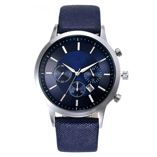 Customized logo all stainless steel japan movt chronograph wristwatches