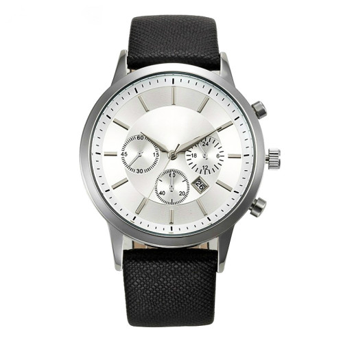 Oem Wrist Watches Mens Luxury Watch Stainless Steel Case Three Eyes Chronograph Wristwatch