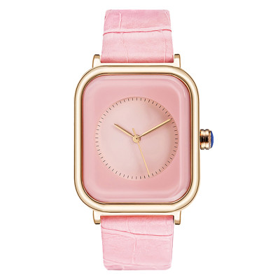Luxury Rose Gold Stainless Steel Watch For Women Ladies Square Dial Fashion Dress Watches