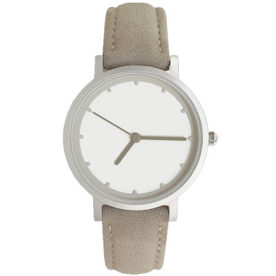 Fashion Custom Printed Logo Leather Women Quartz Waterproof Watches