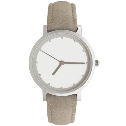 Hot Selling Custom Printed Logo Leather Trendy Women Quartz Simple Watches