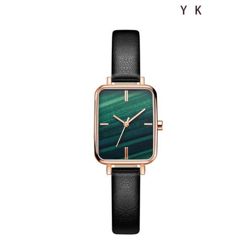 Retro small square disc watch female simple temperament student Korean version ins quartz watch