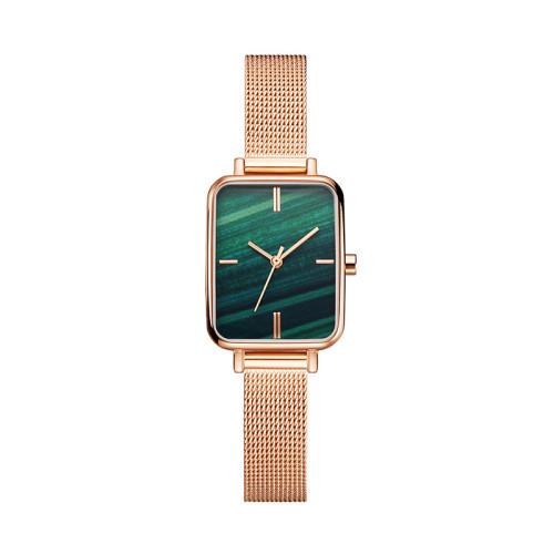 Woman watches top 2021 stainless steel personalizado watch Retro small square disc watch