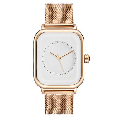 Classic mens genuine leather square watch custom design square watch for men