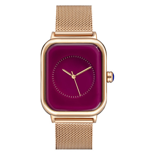 Chinese Wholesale 316L Stainless Steel Band Vintage Ladies Watches Luxury Square Shape Women Watch on Sale