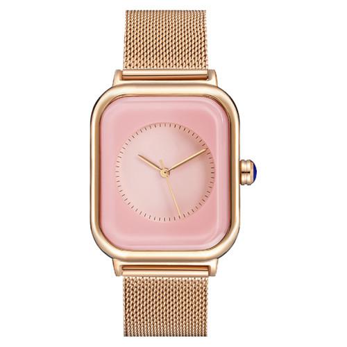 OEM Female Timepiece Brand Square Women's Genuine Leather Strap Quartz Watch Ladies