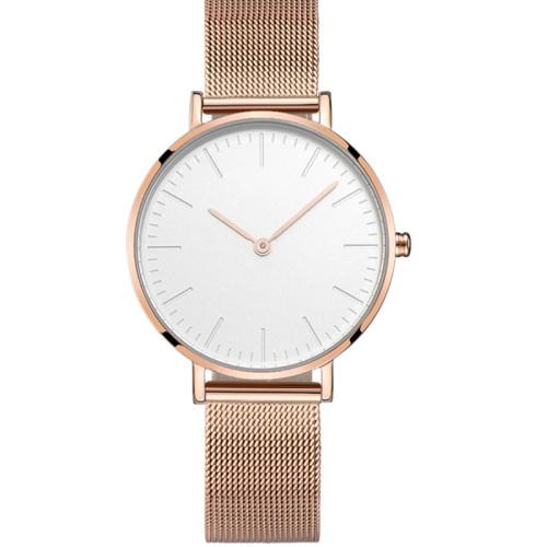 Wholesale Luxury Women's Minimalist Design Watches Stainless Steel Mesh Band 3 ATM Ladies' Wrist Quartz Watch