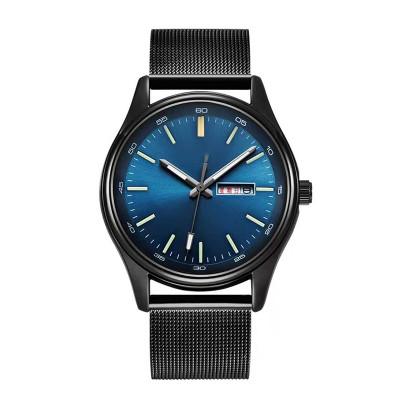 Sport Watches For Men Blue Luxury Military Leather Wrist Watch Man Clock Fashion Chronograph Wristwatch