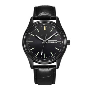 Hot Selling Fashion Men Watch No Logo Small Oem Watches Leather Wristwatches Low Price