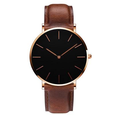 Good Quality Minimalist Style Wristwatches Unisex Waterproof Alloy Case Simple Face Men Quartz Watch