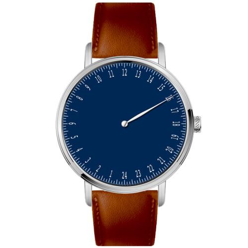 Alibaba Gold Supplier Minimalist Custom Private Label Brand Name 24 Hour Dial Quartz Watch For Men