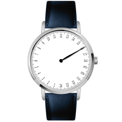Wholesale Brand Your Name Minimalist 24 Hour Dial One Hand Sapphire Glass 5 ATM Quartz Watch