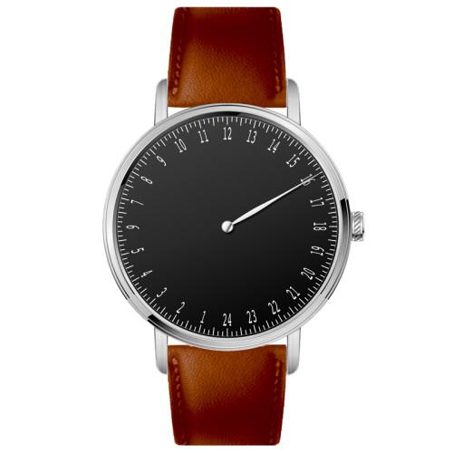 New Design Hotselling Custom 24 hour dial Swiss movement quartz watch for men