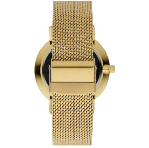 Gold Sunray Dial Gold Brushed 316L Stainless Steel Case Men Wrist Watches With Mesh Strap