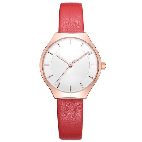 Fashion Ladies Watches Red Leather Female Waterproof Quartz Watch Women Watch Reloj Simple Dial